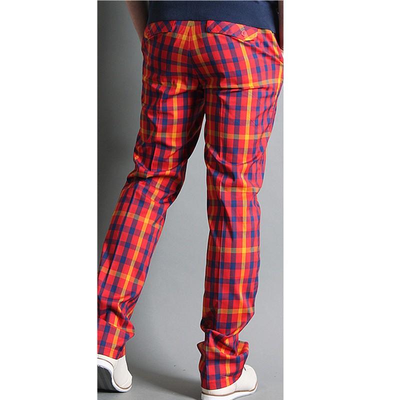 golf pants outlet|men's golf pants plaid orange blue yellow check