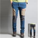 pánske turistické dvojlôžkové béžové nohavice bodové