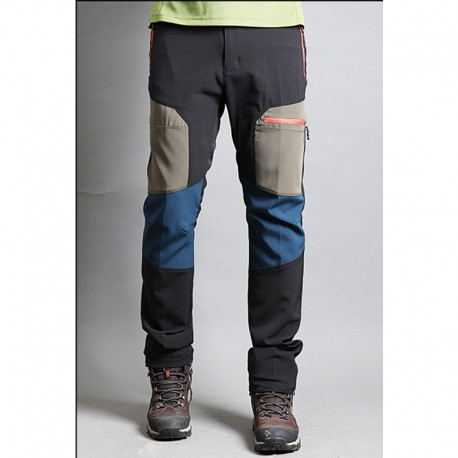 men's hiking double beige point trousers