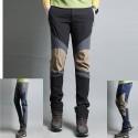 pánske turistické nohavice trojité pevné kolien našité nohavice