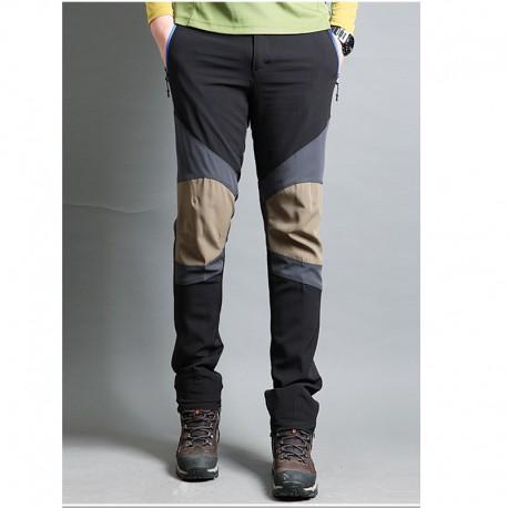 erkek yürüyüş pantolon üçlü katı diz yama pantolon
