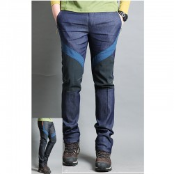 men's hiking pants denim solid silicone trousers