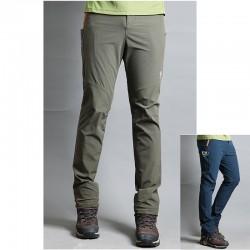 męskie spodnie na piesze wędrówki ETM pomarańczowe spodnie zapinane