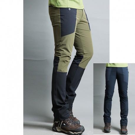 męskie spodnie na piesze wędrówki podwójne wyściełane spodnie kieszeń