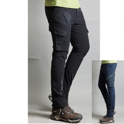 pánske turistické nohavice pevné nevyvážené vreckové nohavice