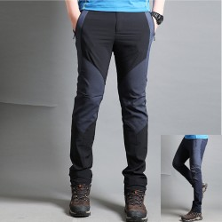 men's hiking pants cotton solid mix trousers