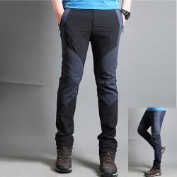 muške planinarske hlače Cotten čvrste mix hlače