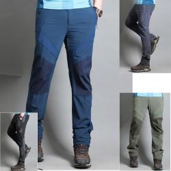 férfi gyalogos nadrág átfedés szilárd nadrág