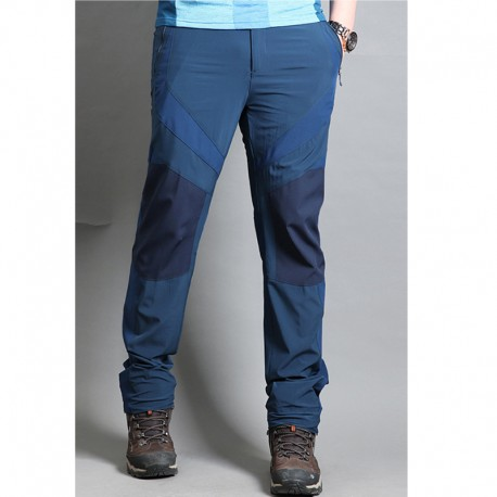 men's hiking pants overlap solid trousers