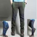 pánske turistické nohavice voľné vreckové nohavice