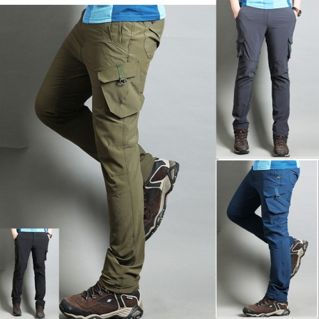 men's hiking pants double side pocket trousers