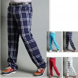 erkek ekose onay golf pantolon klasik tartan onay