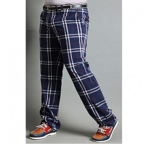 a quadri di golf pantaloni da uomo classico controllo in tartan