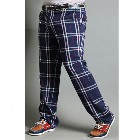 férfi kockás check golf nadrág klasszikus kockás ellenőrzés