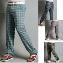 men's plaid check golf pants gingham check