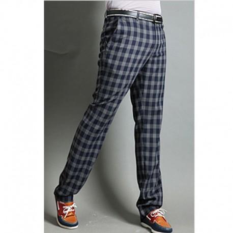 mænds plaid kontrollere golf bukser gingham kontrol