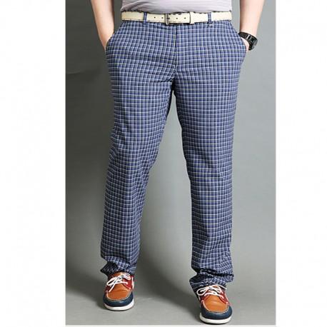 Golf chèque pantalon houndstooth hommes