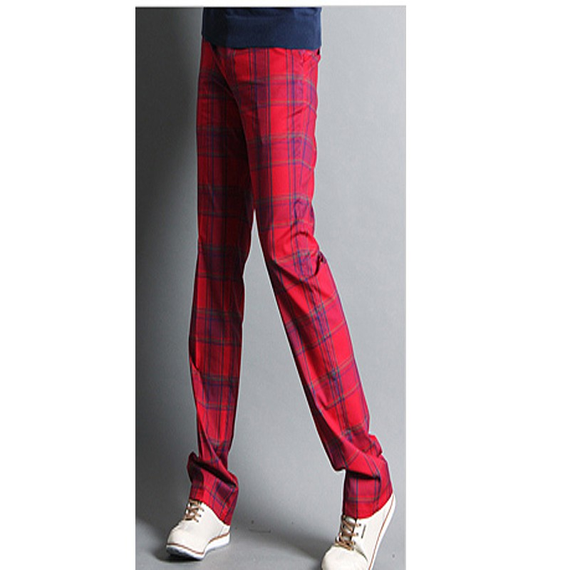 Golf Pants Outlet Men S Golf Pants Plaid Orange Blue