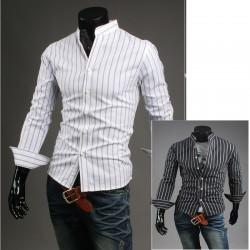 mandarin krave shirts stribe