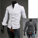 mandarin krage skjorter stripe