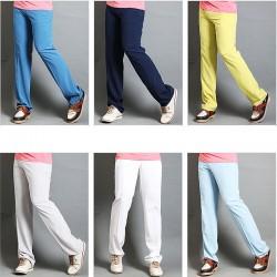 pánske golfové nohavice rovný fit