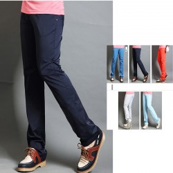 mannen golf broek straight fit diepe kleur