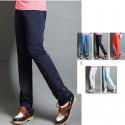 men's golf pants straight fit deep color