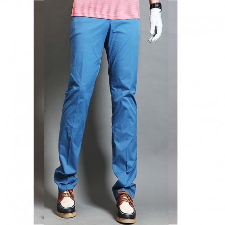 erkek golf pantolon düz derin renk sığdırmak