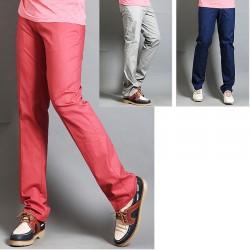 pantaloni di golf degli uomini controllano linea micro tasca