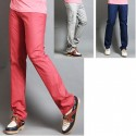 men's golf pants check micro pocket line