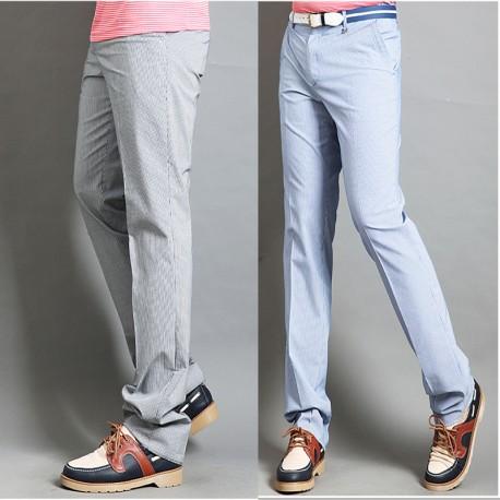 Spodnie męskie golfowych mikro paskiem