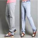 terrains de pantalons pour hommes micro rayure