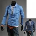 neapstrādāta džinsa krekls vīriešiem
