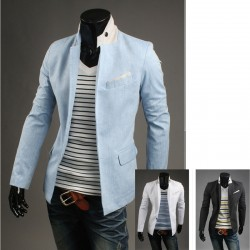 men's blazer stripe handkerchief pocket