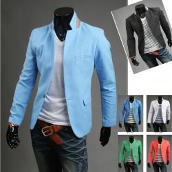 мужской пиджак полоса кнопка белья 1