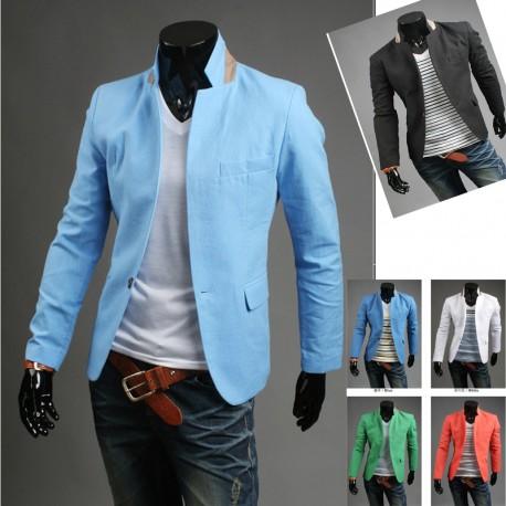 mannen blazer streep linnen 1-knop