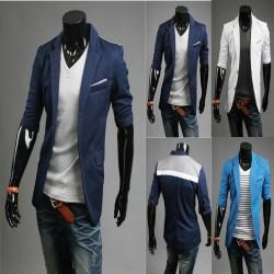men's blazer mid sleeve handkerchief