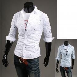 muška sredine rukav košulje papir brod