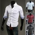 mid męskie Koszulki sprawdzić kieszeń wargi