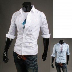 men's mid sleeve shirts color boy