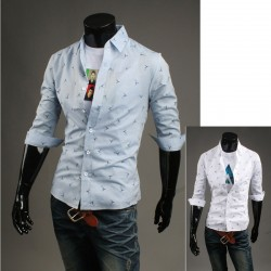 мужской середине рукав рубашки птицы Почтальон