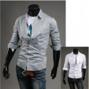 men's mid sleeve shirts red-crowned crane