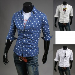 men's mid sleeve shirts pinwheel