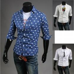 metà Camicie maniche girandola maschile