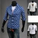mi chemises à manches pinwheel hommes