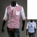 pánské košile poloviny rukáv dvojitá čára proužek