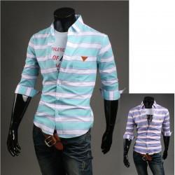 Herren-Mitte Hülsenhemden breiten Multi Streifen