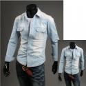 juostele piniginė kišenėje džinsinio marškinėliai