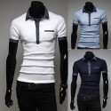 men's polo shirts denim lip pocket