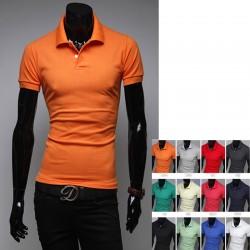 culoare multiful tricouri polo bărbați de bază